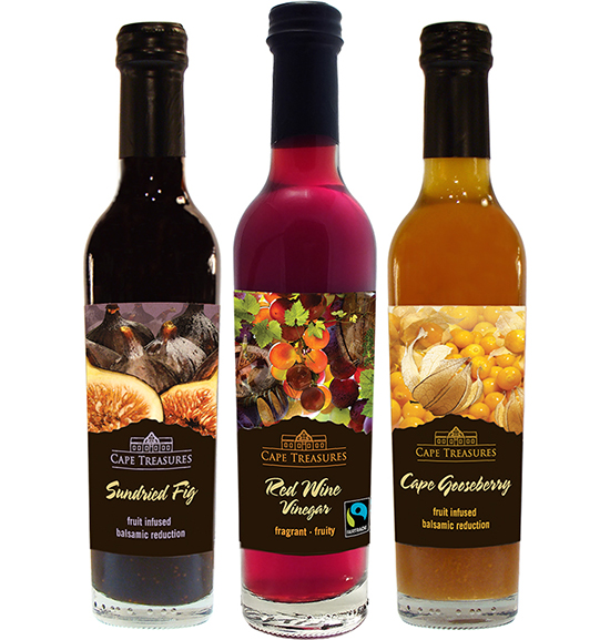 Turqle producers: Fruit Infused Balsamic Vinegars and FLO certified Red Wine Vinegar by Instant Trading's Speciality division.