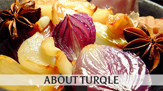 Image of roast onion & garlic used to lllustrate the link to the Turqle Trading 'About' page.
